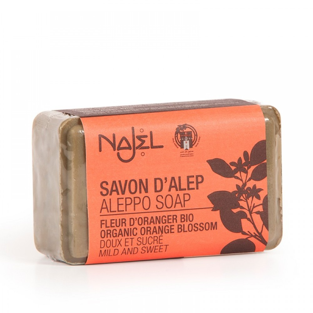 Aleppo soap with water of organic orange blossoms