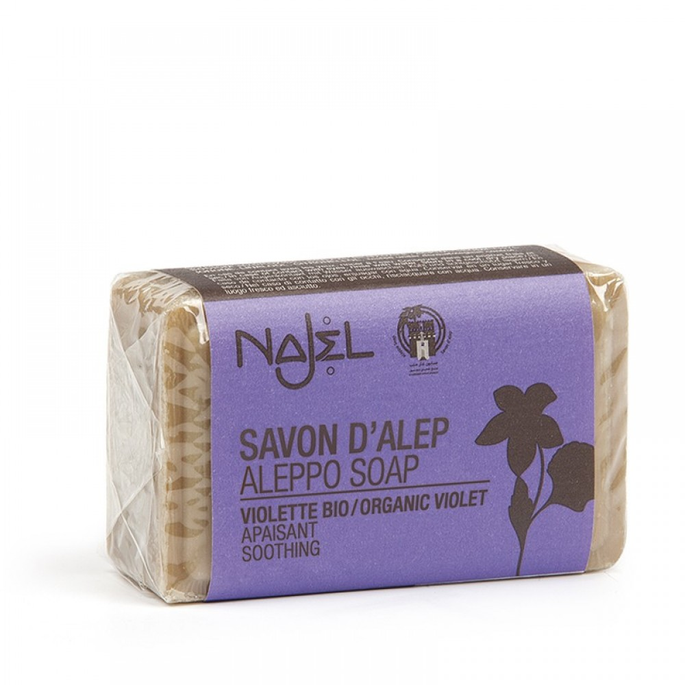 Aleppo soap with organic violets
