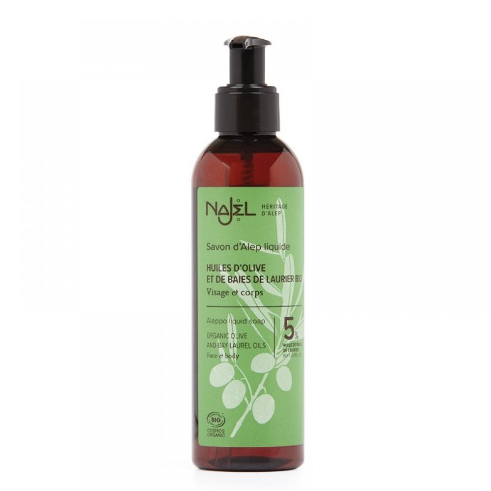 Aleppo Liquid Soap 5% BLO certified Cosmos Organic