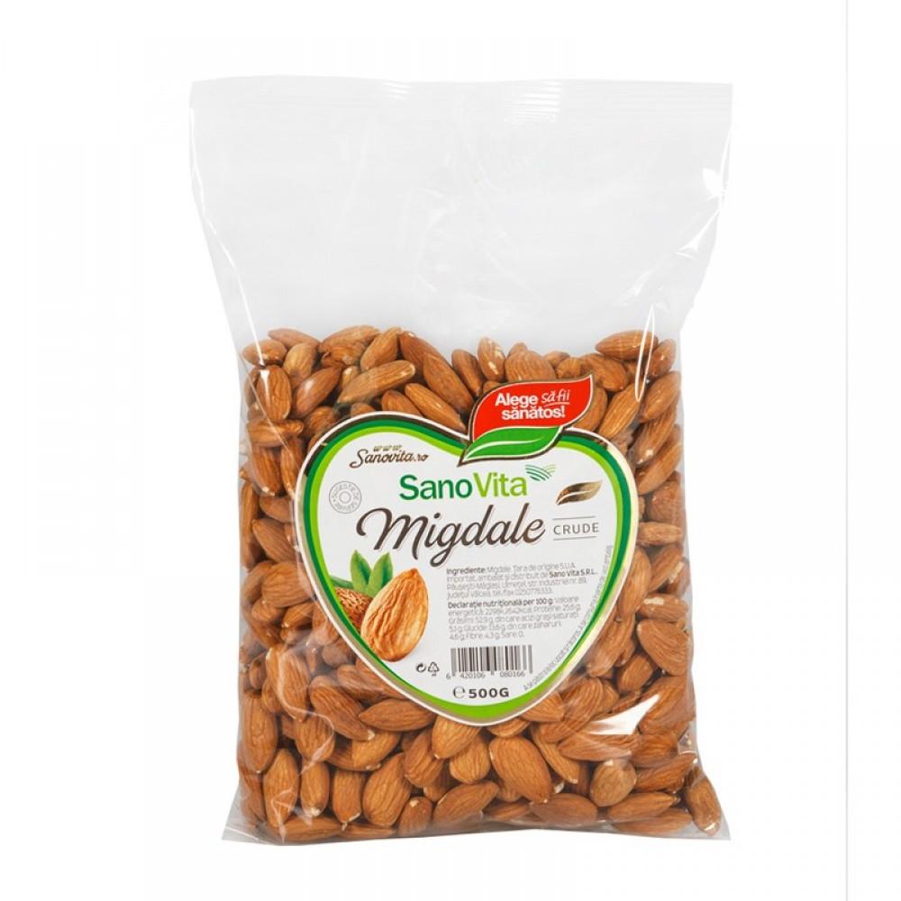 Almonds raw, 500g