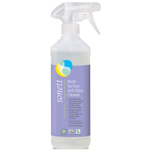 Ecological detergent for glass and other spray surfaces, Sonett, 500ml