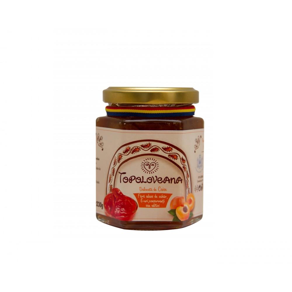 Apricot jam, 100% natural, no added sugar, 230g
